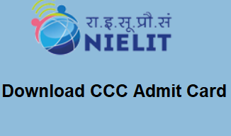 Photo of Download CCC Admit Card 2020 July/August student.nielit.gov.in
