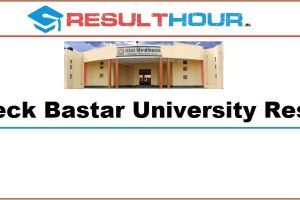 ResultHour Bastar University Result