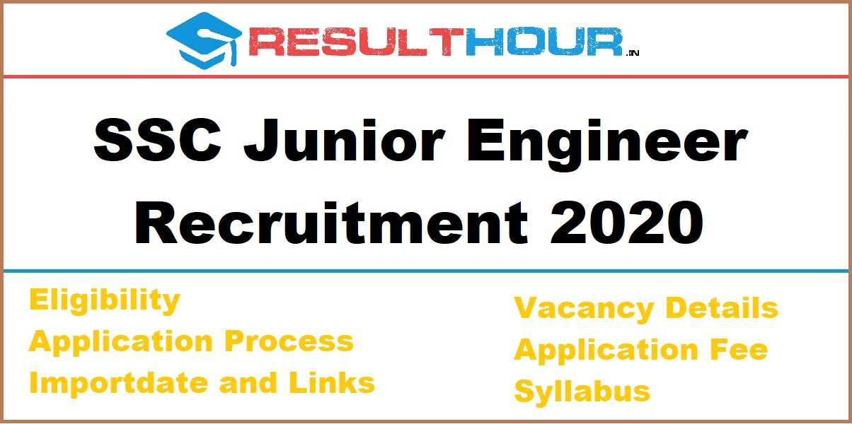 Photo of SSC Junior Engineer Recruitment 2020 – JE Recruitment 2020 Online Form
